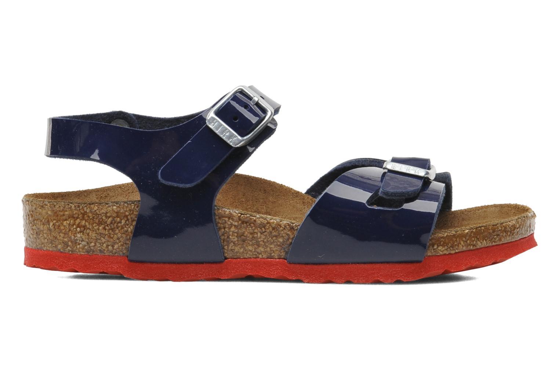 Sandales et nu-pieds Birkenstock Rio Birko Flor Bleu vue derrière