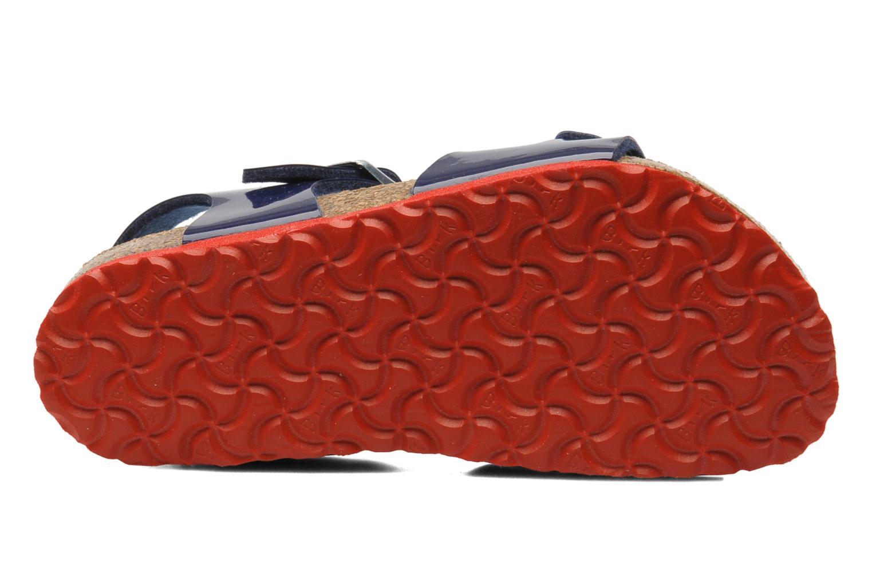 Sandales et nu-pieds Birkenstock Rio Birko Flor Bleu vue haut