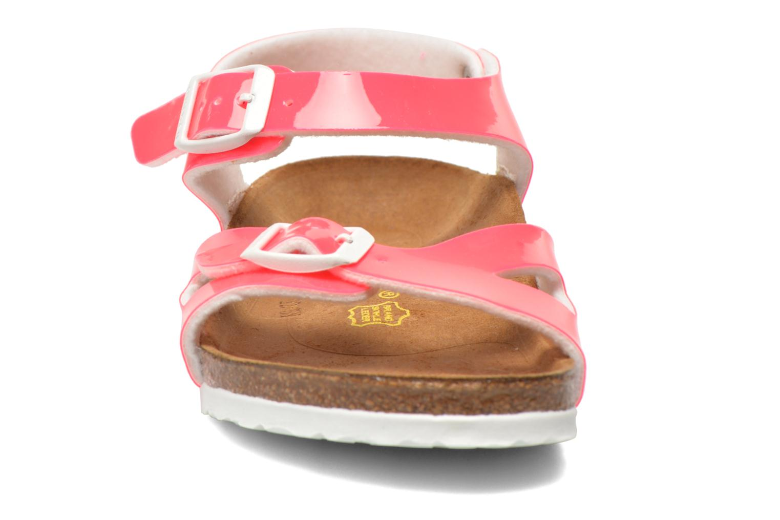 Sandals Birkenstock Rio Birko Flor Pink model view