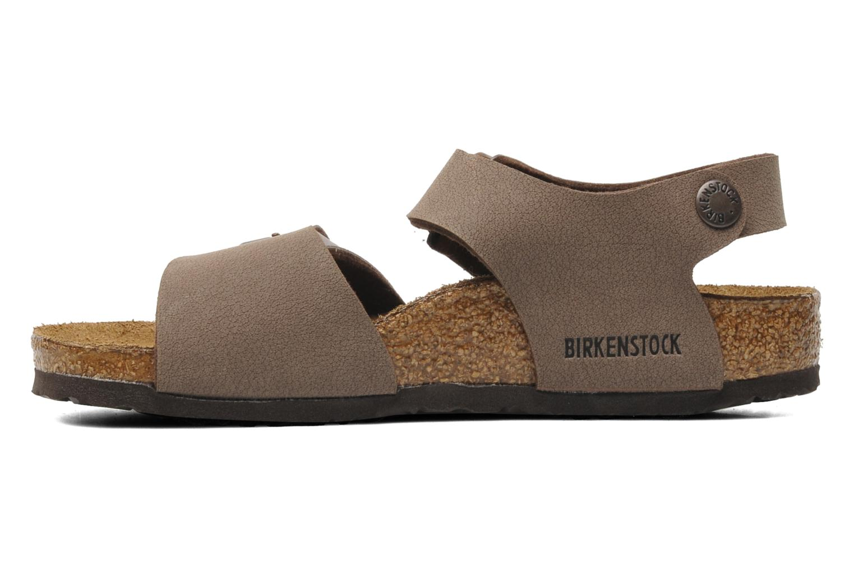 Sandales et nu-pieds Birkenstock New York Birko Flor Marron vue face