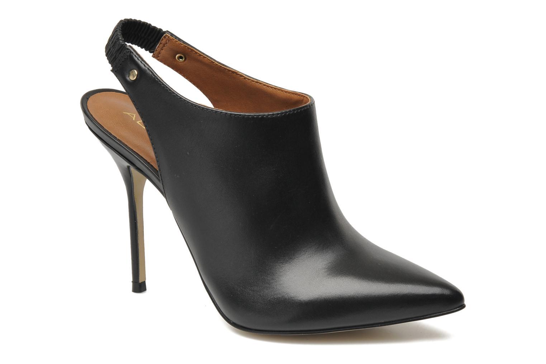 TEANIEL Black leather