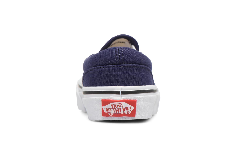 Baskets Vans Classic Slip-On E Bleu vue droite