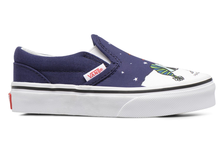 Sneakers Vans Classic Slip-On E Blå bild från baksidan