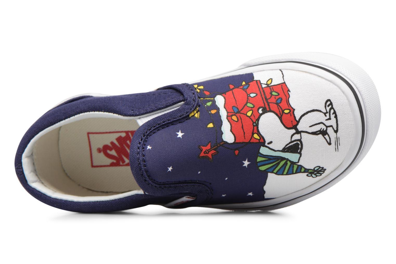 Sneakers Vans Classic Slip-On E Blå bild från vänster sidan