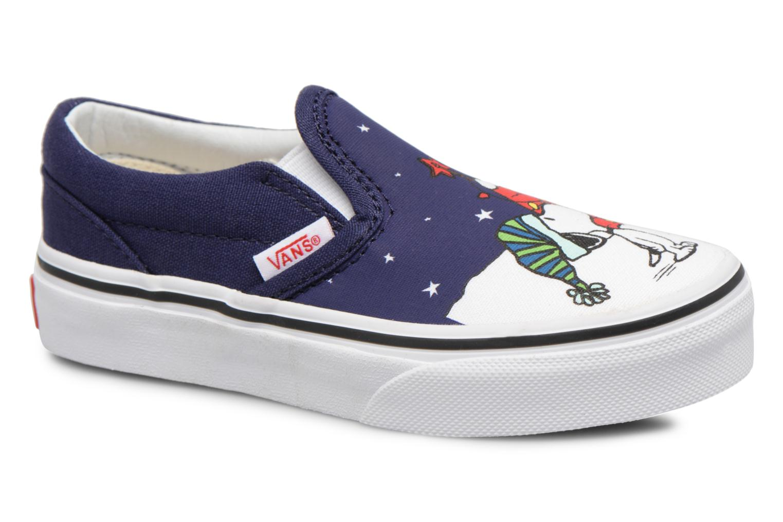 Sneakers Vans Classic Slip-On E Blå detaljerad bild på paret