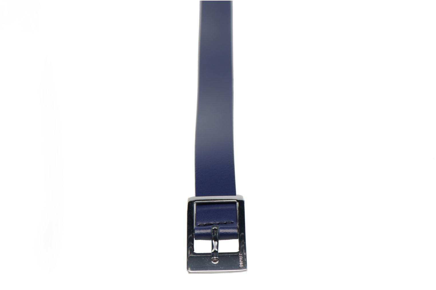 Gamila Leather Belt 20mm Navy