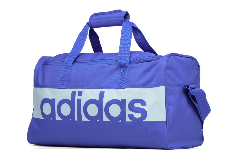 Sporttaschen Adidas Performance Lin Per TB S blau schuhe getragen