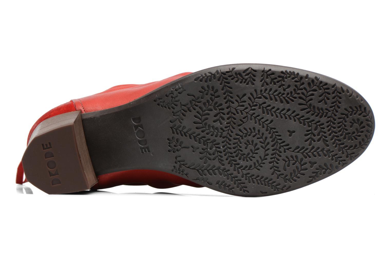 Bottines et boots Dkode Carter Rouge vue haut