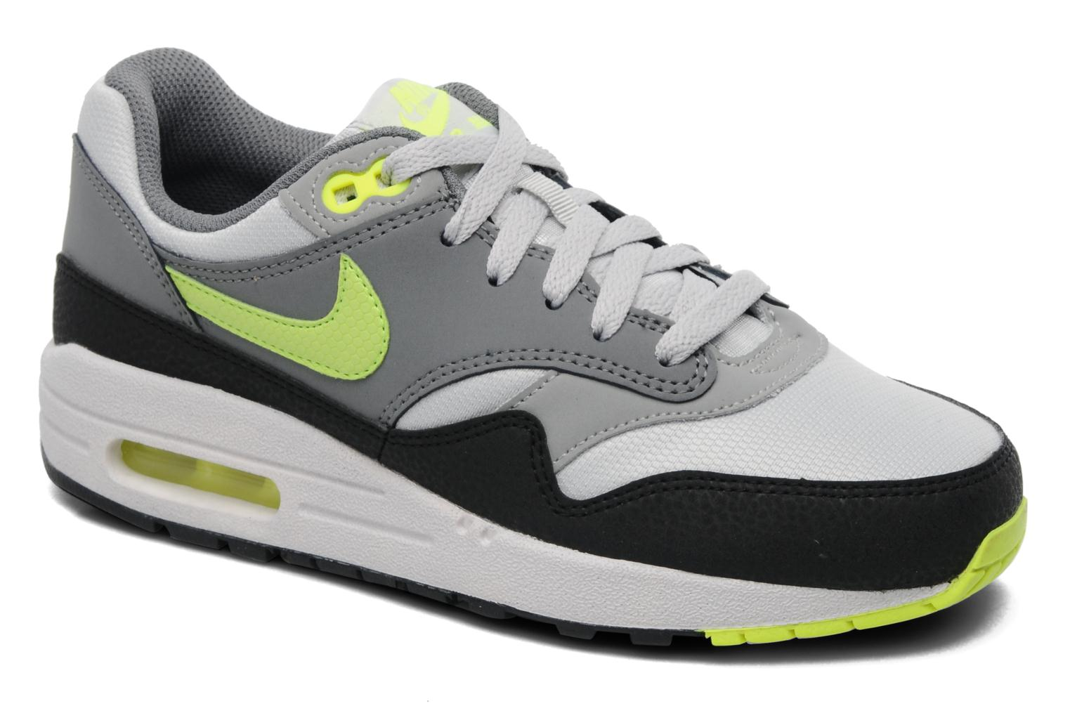 Nike WLF TTL Orng-PHT BL-CL Gry, Chaussures de Sport Garçon, Gris-Gris (WLF Gry/TTL Orng-PHT BL-Cl Gry), 29 1/2 EU