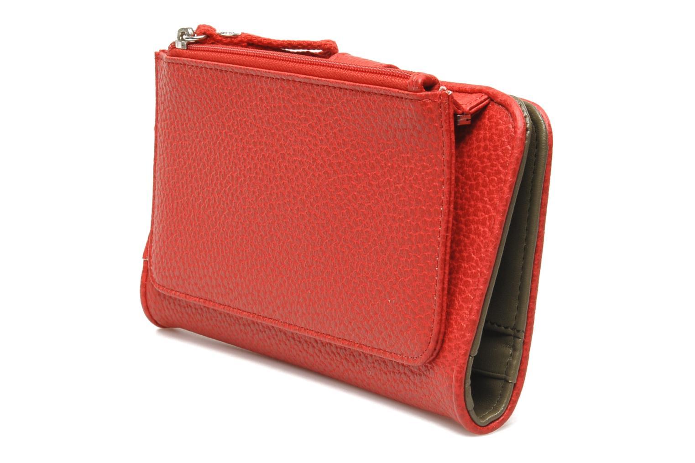 Porte chéquier 3V Grainé Rouge