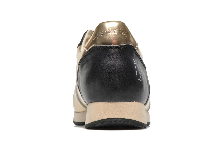 Deportivas Shoe the bear Trainer Oro y bronce vista lateral derecha