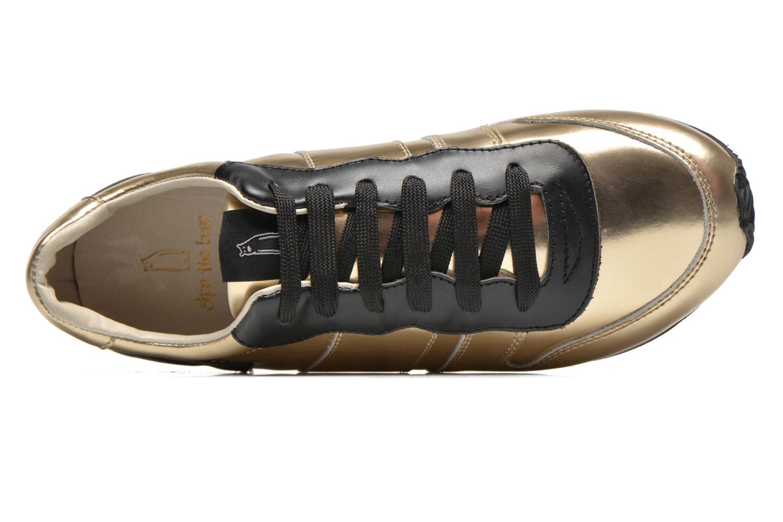 Deportivas Shoe the bear Trainer Oro y bronce vista lateral izquierda