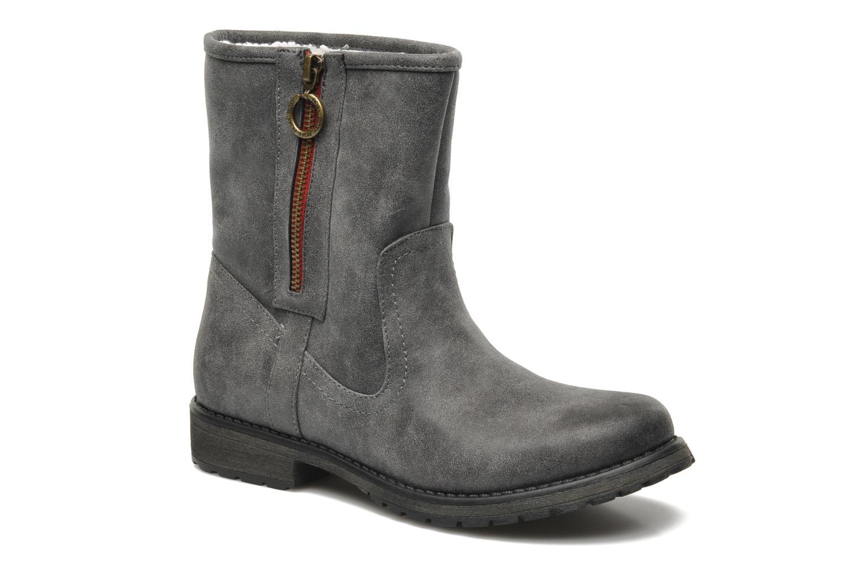 Bottines et boots Roxy Logger Sherpa Gris vue 3/4