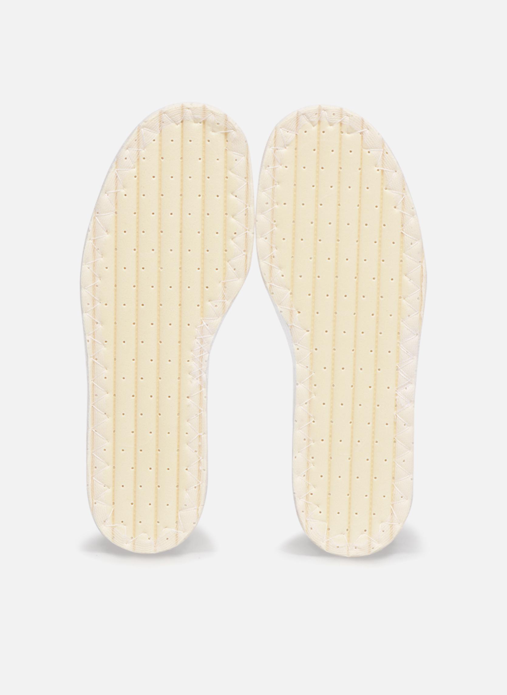Semelles Famaco Semelle coton enfant Blanc vue portées chaussures