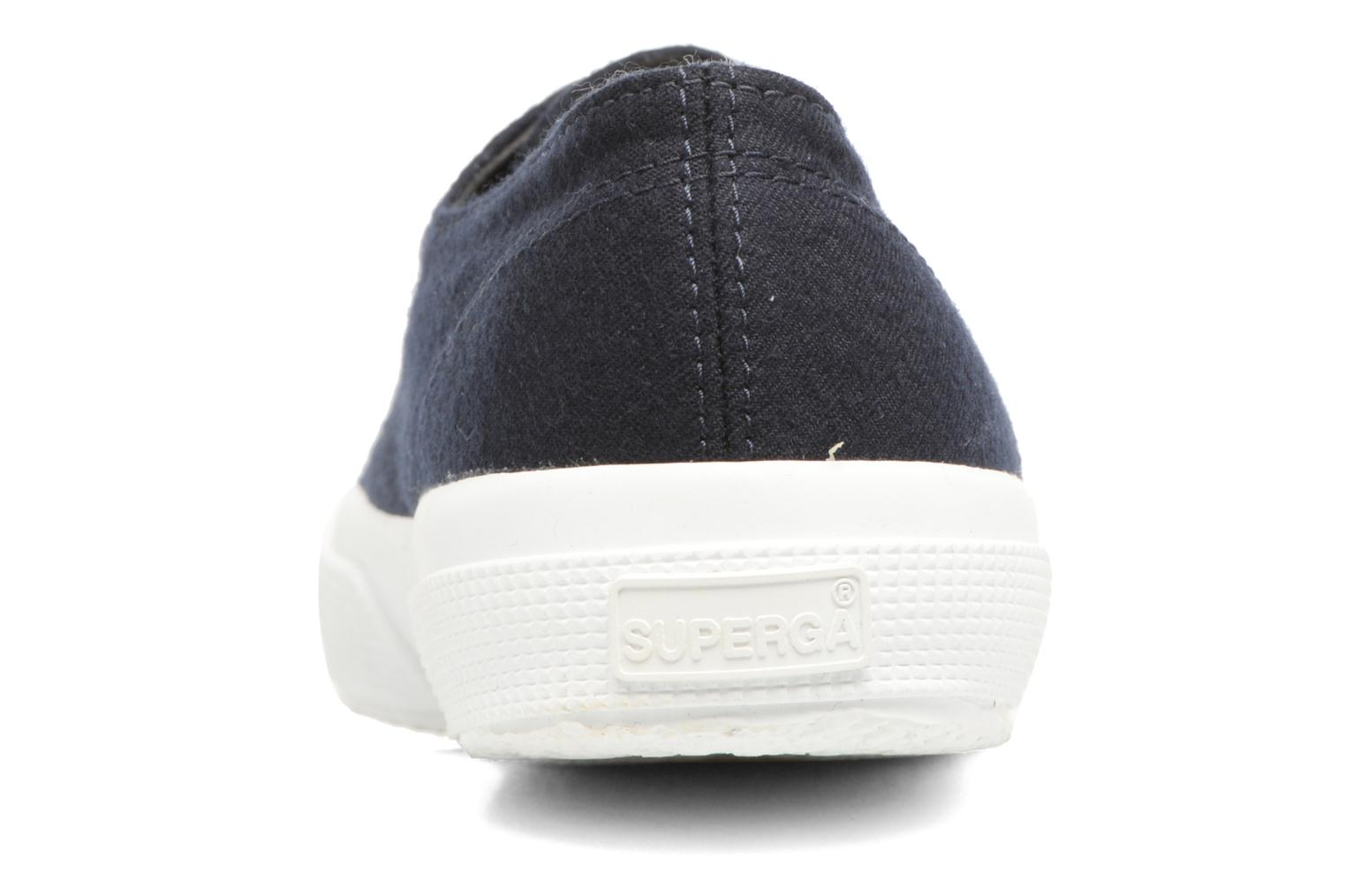Baskets Superga 2750 Fabric Wool M Bleu vue droite