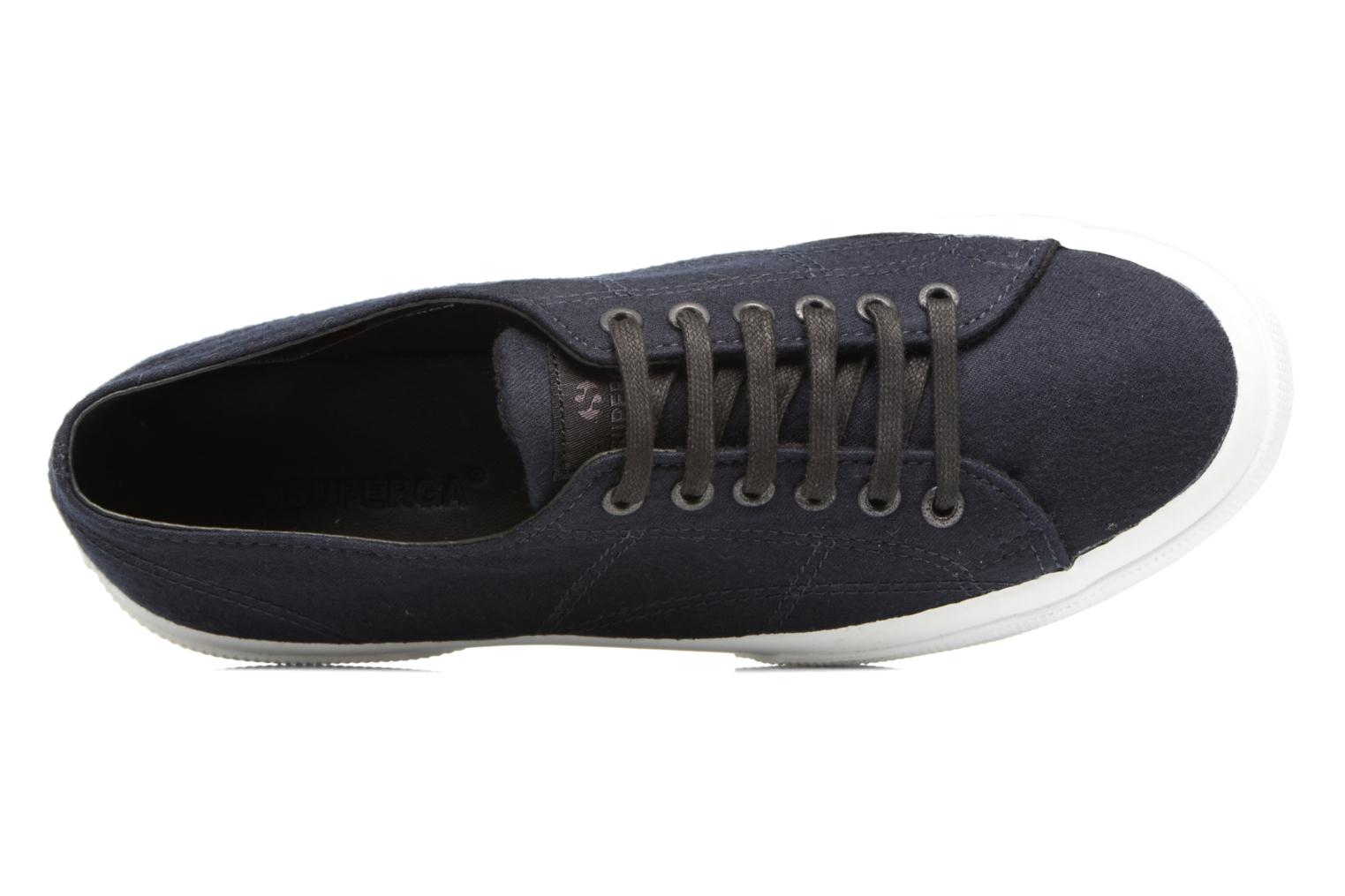 Baskets Superga 2750 Fabric Wool M Bleu vue gauche