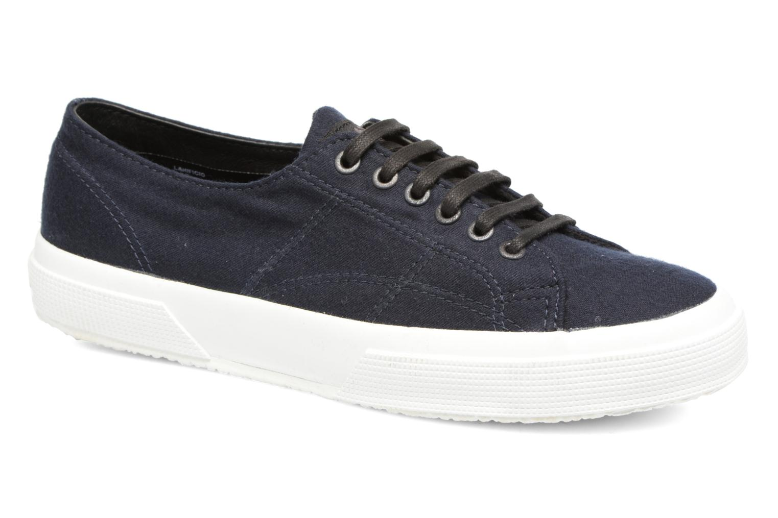 Baskets Superga 2750 Fabric Wool M Bleu vue détail/paire