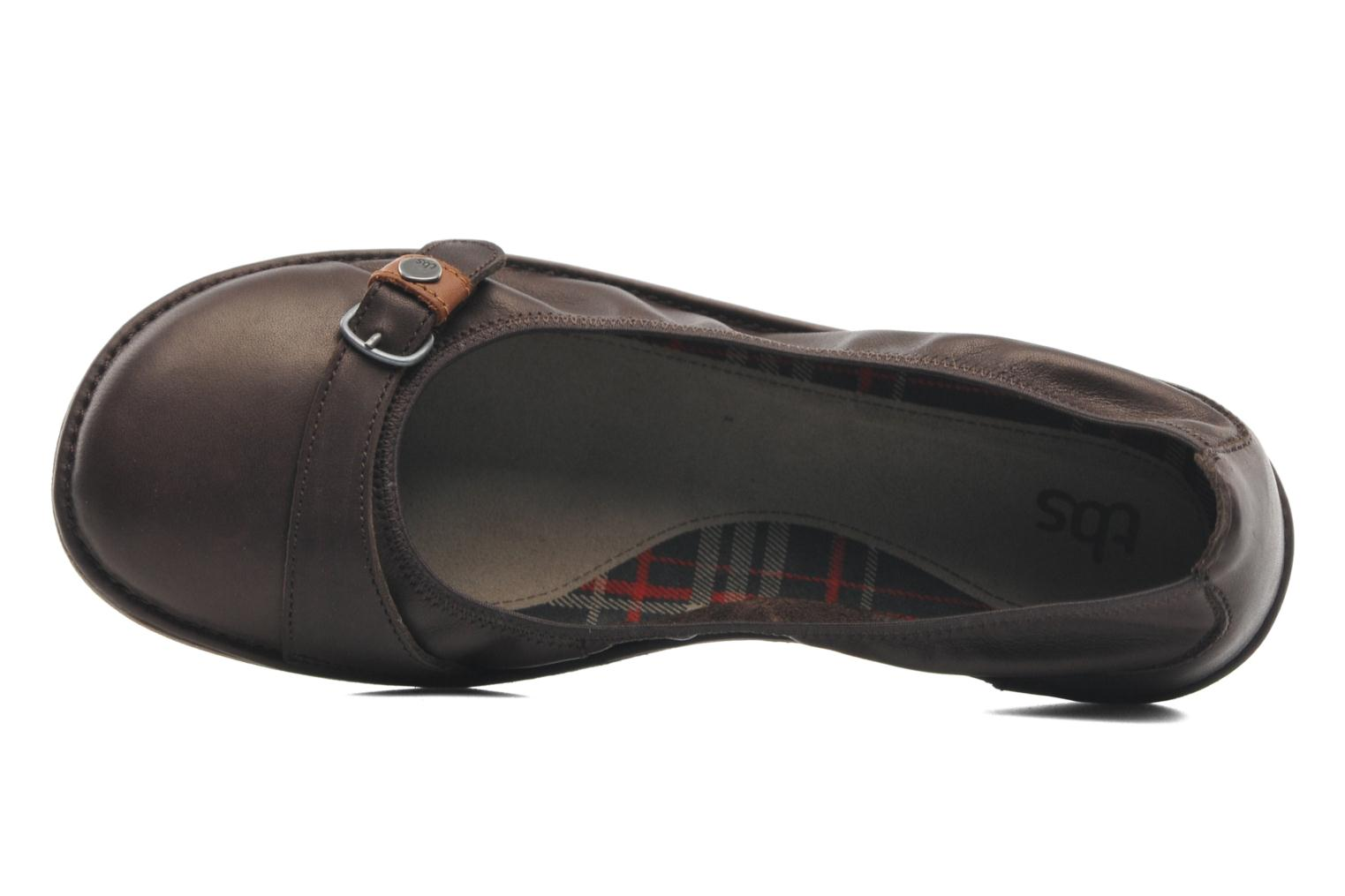 Ballet pumps TBS Maline Brown view from the left