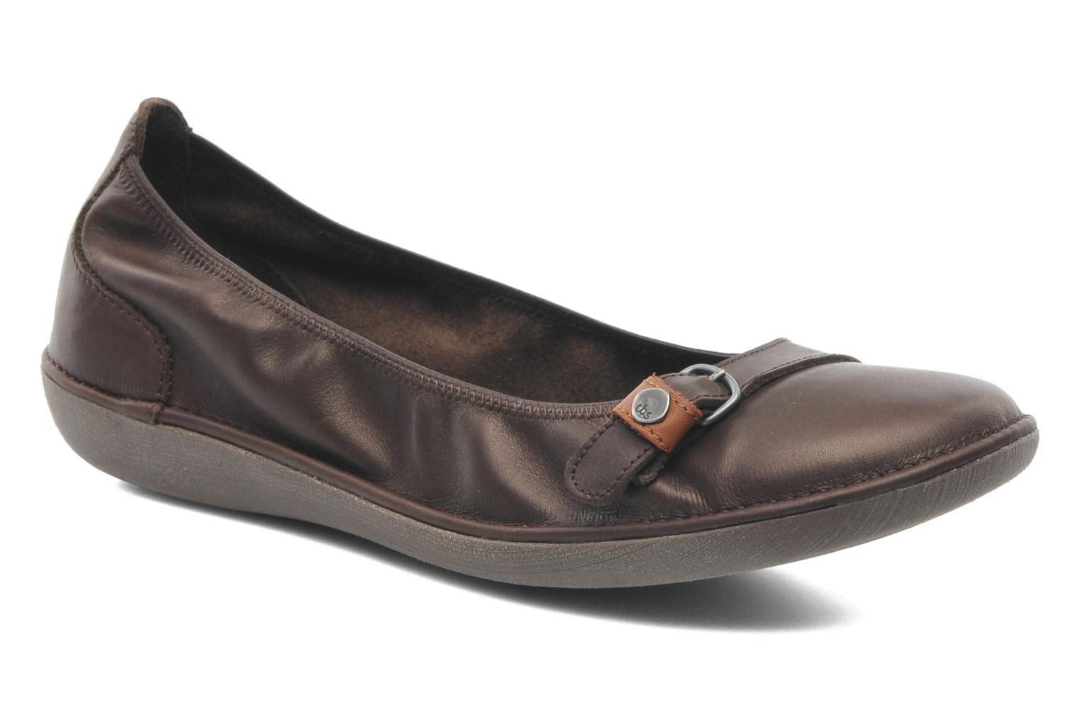 Ballet pumps TBS Maline Brown detailed view/ Pair view