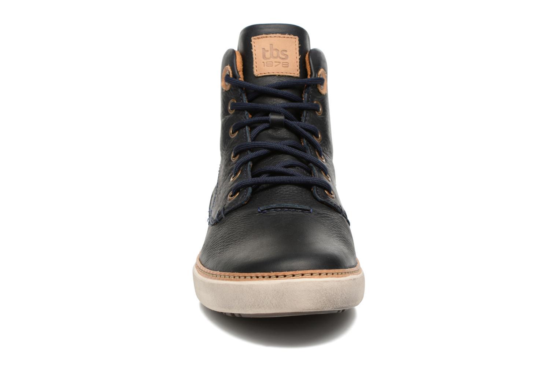 Baskets TBS Bexter Bleu vue portées chaussures