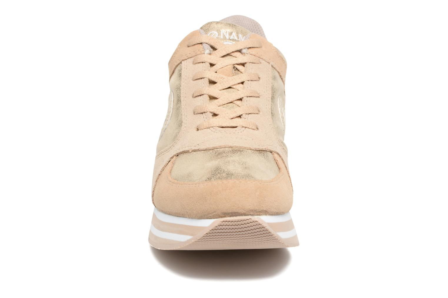 Trainers No Name Parko Jogger Bronze and Gold model view