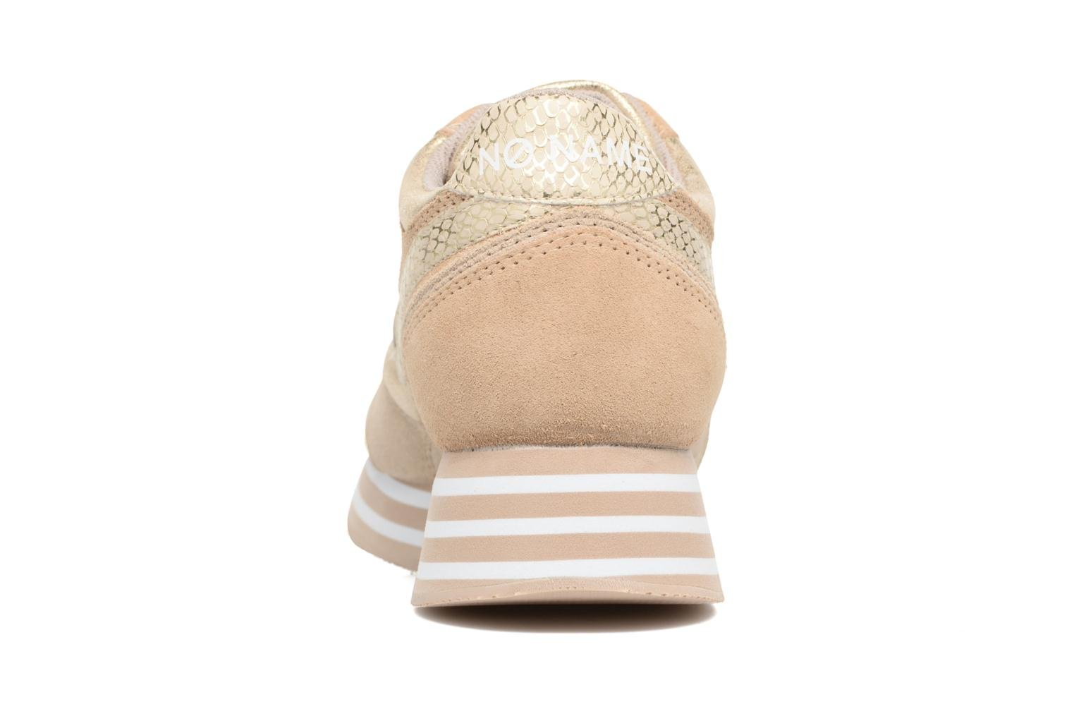 Trainers No Name Parko Jogger Bronze and Gold view from the right
