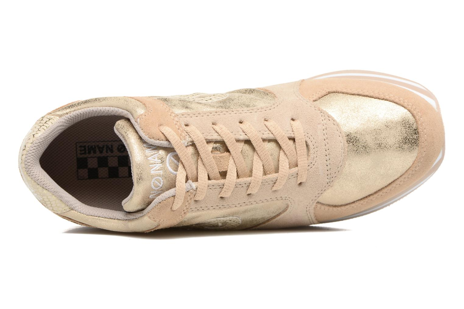 Trainers No Name Parko Jogger Bronze and Gold view from the left