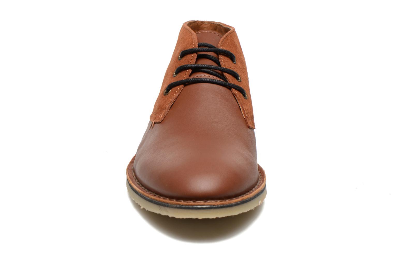 Chaussures à lacets M. Moustache Gaspard Cuir Marron vue portées chaussures