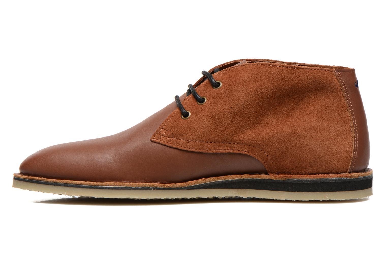 Chaussures à lacets M. Moustache Gaspard Cuir Marron vue face