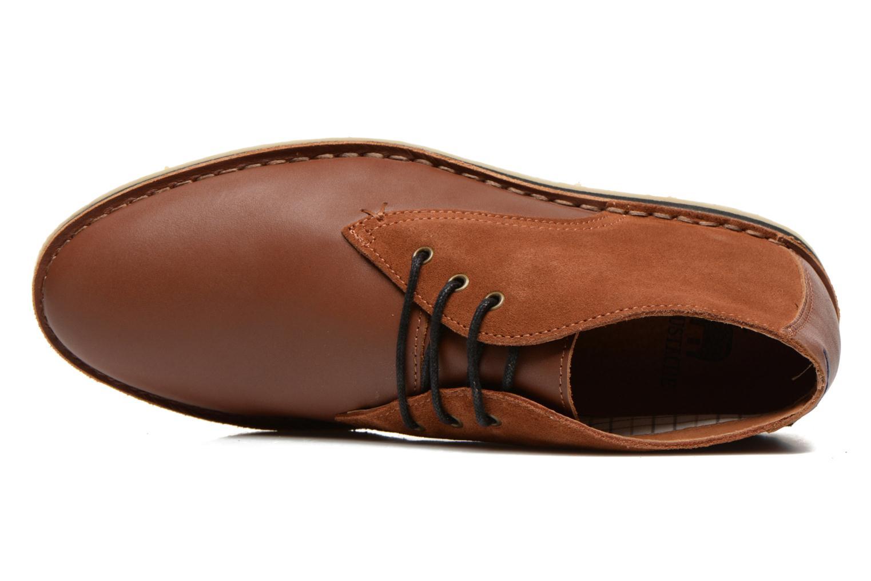 Chaussures à lacets M. Moustache Gaspard Cuir Marron vue gauche