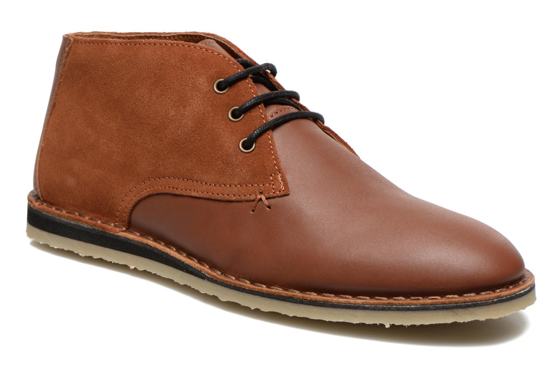 Chaussures à lacets M. Moustache Gaspard Cuir Marron vue détail/paire