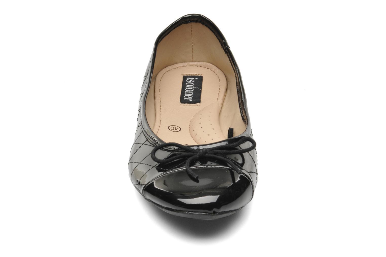 Ballerines Isotoner Ballerine Nœud Lacet Noir vue portées chaussures