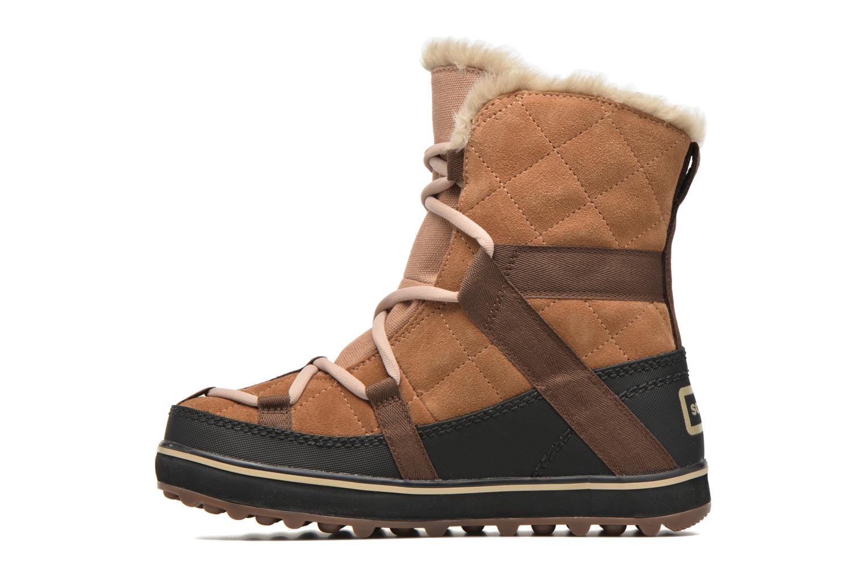 Sportschuhe Sorel Glacy Explorer Shortie braun ansicht von vorne
