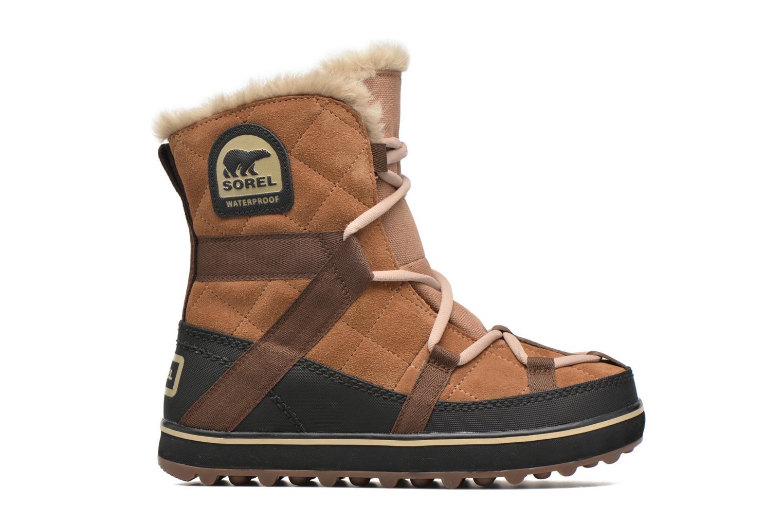 Sport shoes Sorel Glacy Explorer Shortie Brown back view