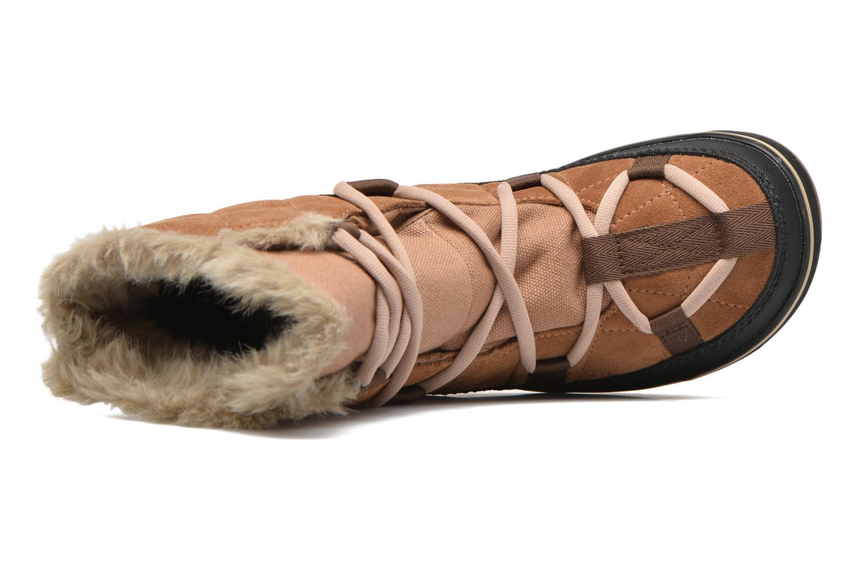 Sportschuhe Sorel Glacy Explorer Shortie braun ansicht von links