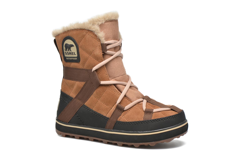 Chaussures de sport Sorel Glacy Explorer Shortie Marron vue détail/paire