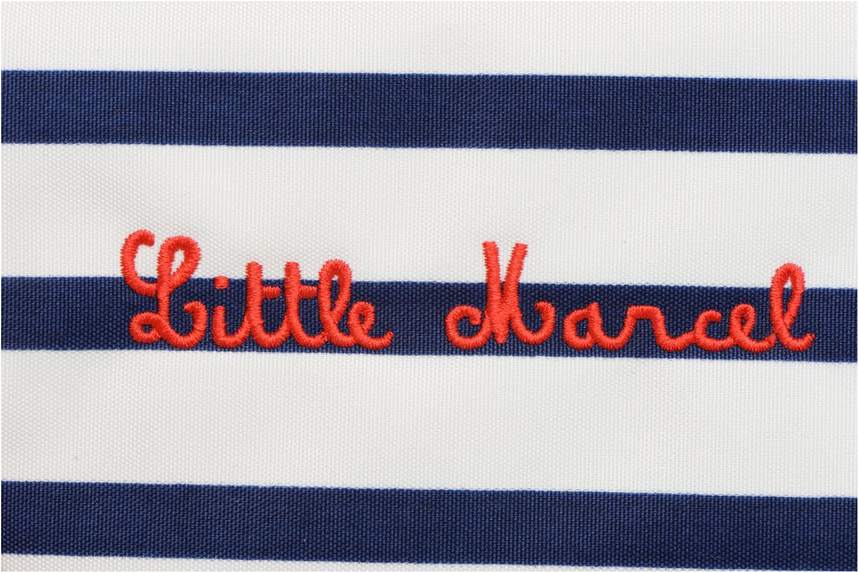 Petite Maroquinerie Little Marcel Polisse Bleu vue gauche