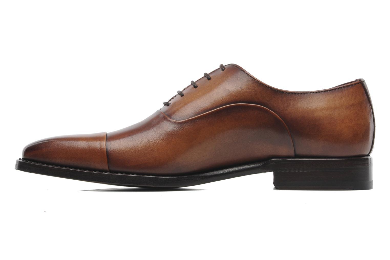 Snörade skor Marvin&Co Luxe Weloofu - Cousu Goodyear Brun bild från framsidan