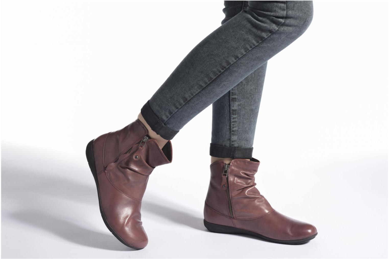 Bottines et boots Josef Seibel Faye 05 Rouge vue bas / vue portée sac