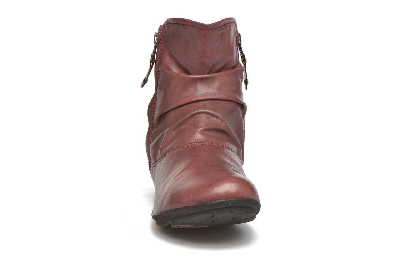 Bottines et boots Josef Seibel Faye 05 Rouge vue portées chaussures