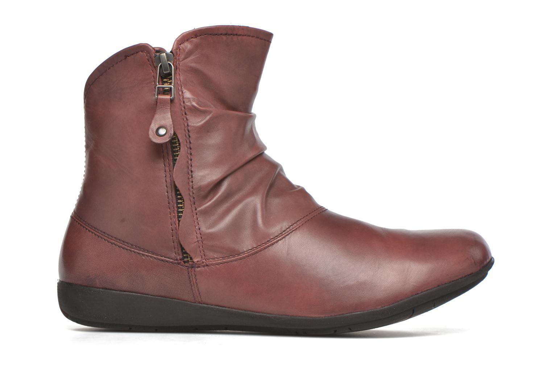 Bottines et boots Josef Seibel Faye 05 Rouge vue derrière