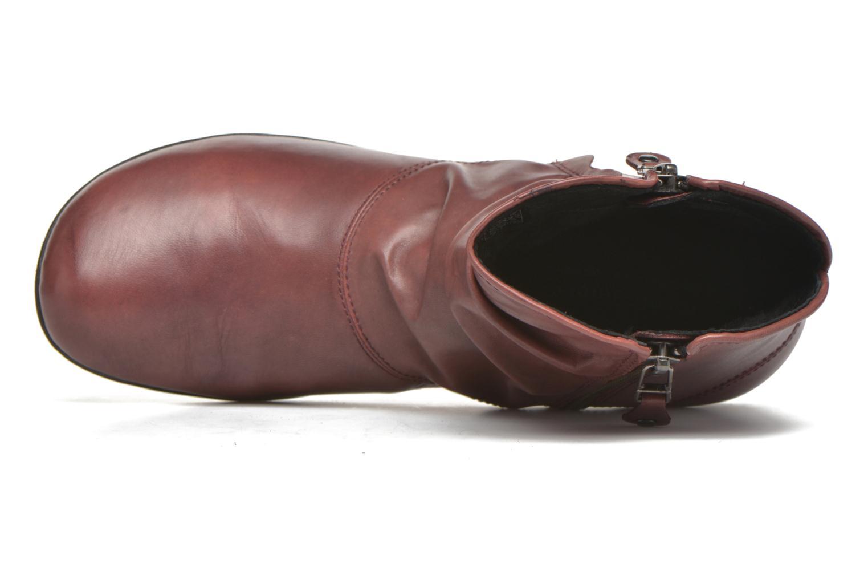 Bottines et boots Josef Seibel Faye 05 Rouge vue gauche