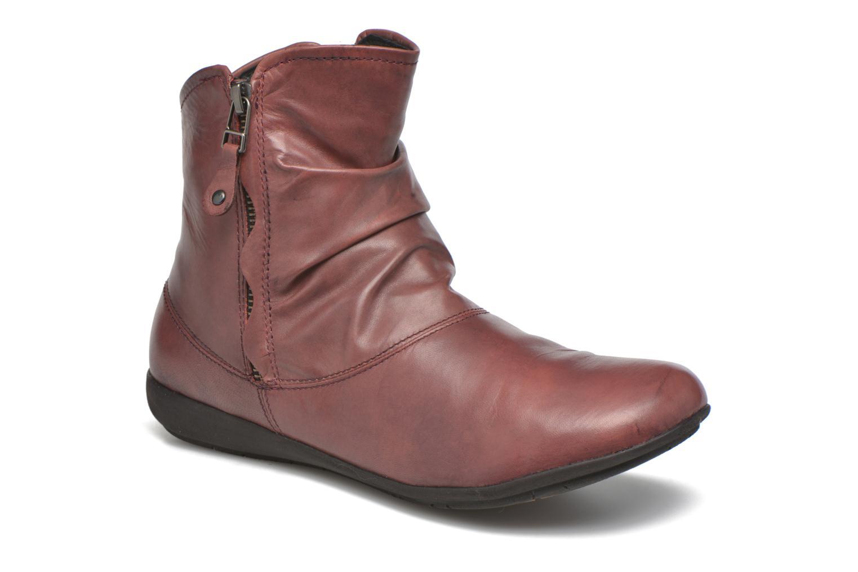 Bottines et boots Josef Seibel Faye 05 Rouge vue détail/paire