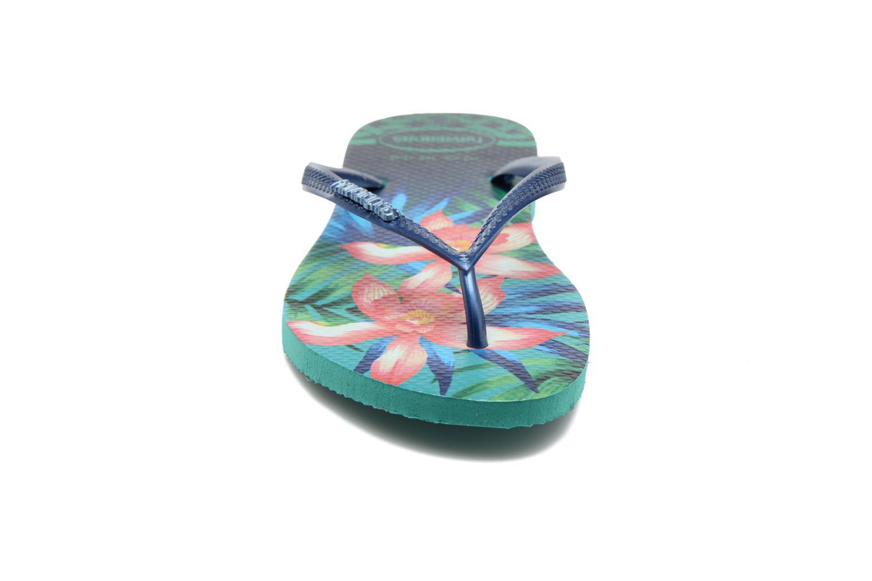 Tongs Havaianas Slim Tropical Vert vue portées chaussures