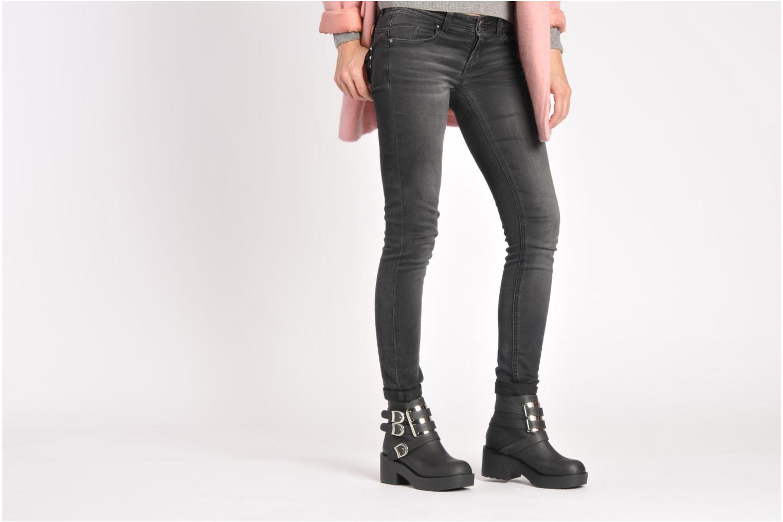 Stiefeletten & Boots Jeffrey Campbell Felin schwarz ansicht von unten / tasche getragen