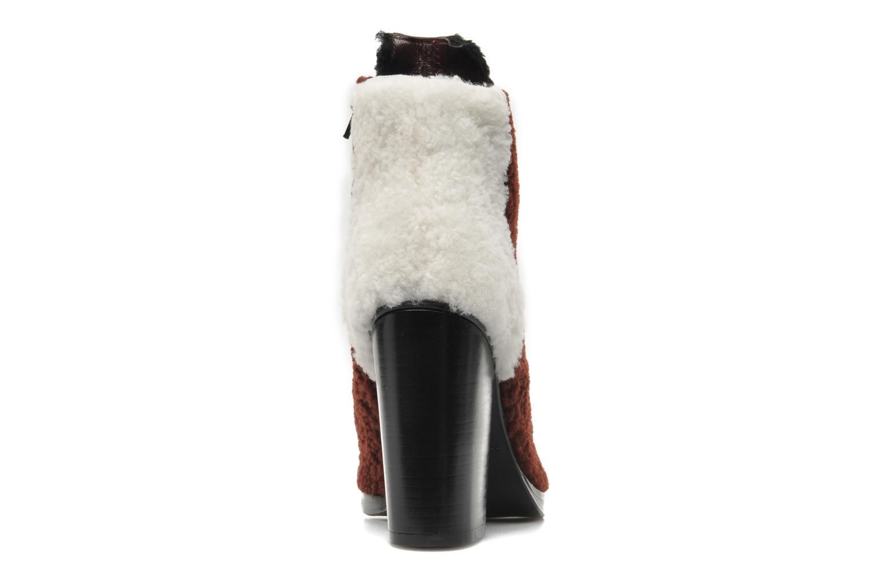 Bottines et boots Opening Ceremony Elise open toe bootie Bordeaux vue droite