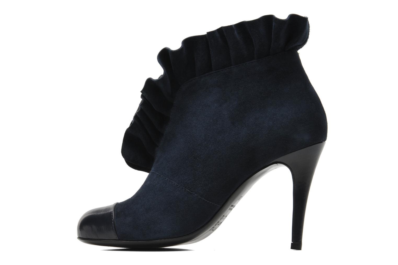 Bottines et boots MySuelly Lola froufrou Bleu vue face