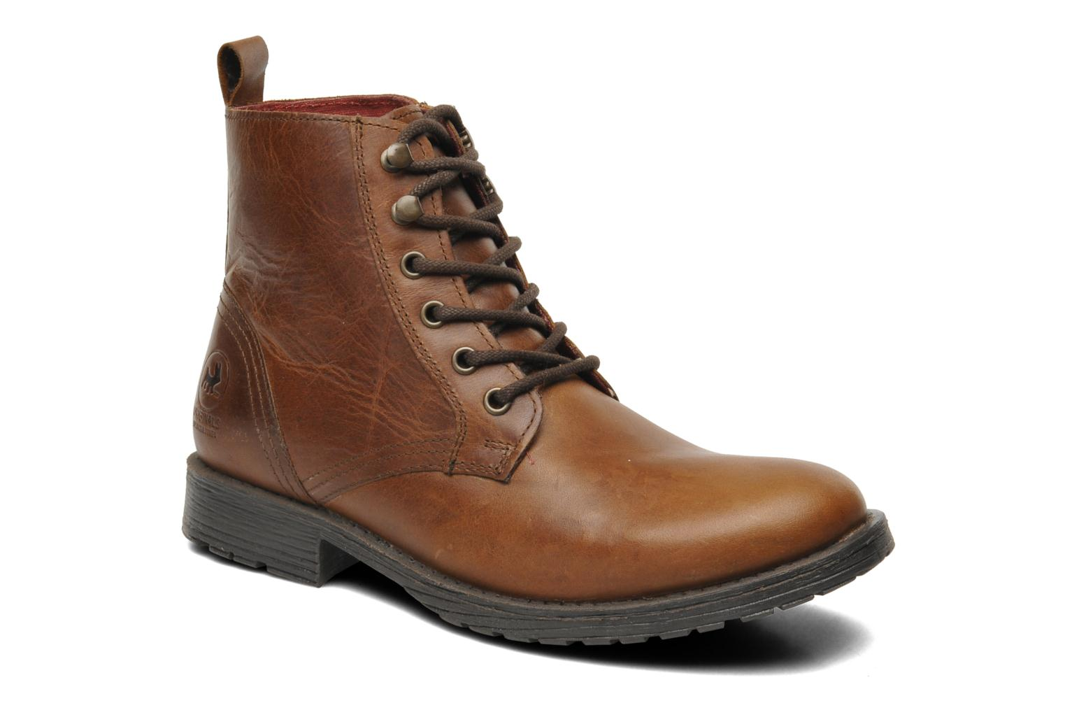 Ankle boots Jack & Jones JJ Crust Leather Boot Warm Org Brown detailed  view/ Pair
