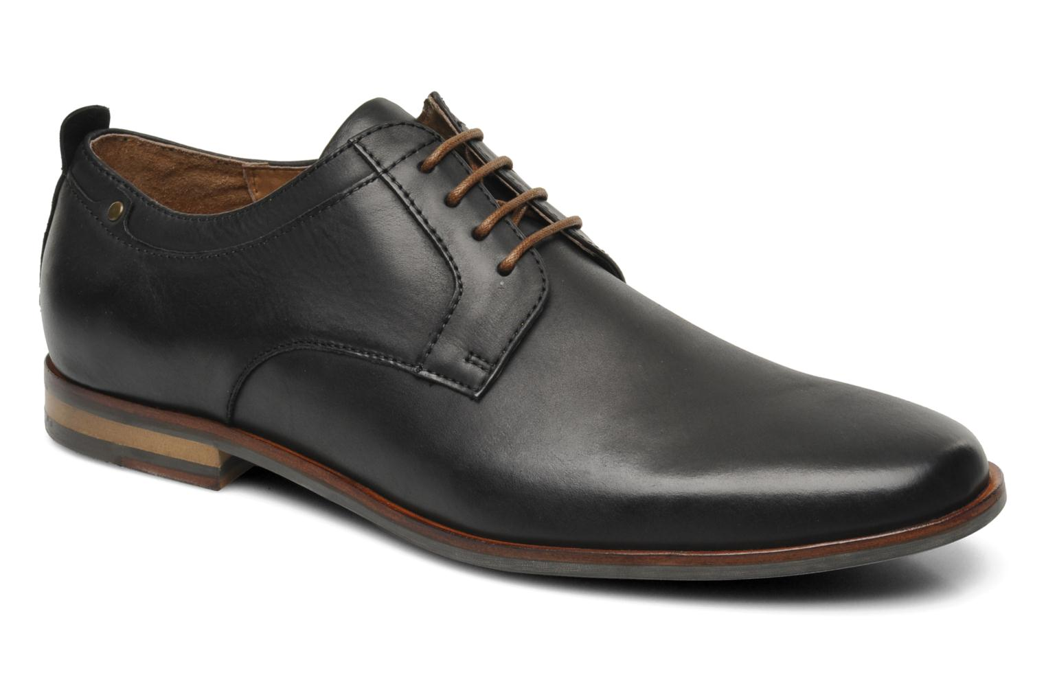 Lace-up shoes Schmoove Dirty Dandy Station Black detailed view/ Pair view