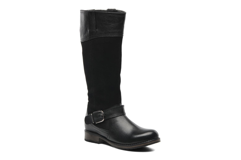 Breeze Black leather suede